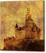 Marksburg Castle In The Rhine River Valley Canvas Print