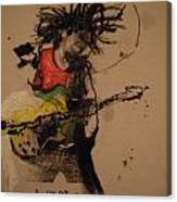 Marley With Bow And Arrow Guitar Canvas Print