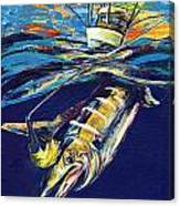 Marlin Catch Canvas Print