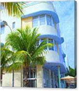 Marlin Hotel Side View Canvas Print
