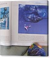 Marlin On An Oyster Shell Canvas Print