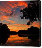 Marlu Lake At Sunset Canvas Print