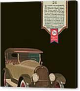 Marmon 34  - Vintage Poster Canvas Print