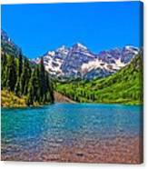 Maroon Bells In Color Canvas Print