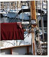 Maroon Sail  Canvas Print
