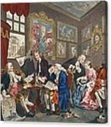 Marriage A La Mode, Plate I, The Canvas Print