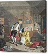 Marriage A La Mode, Plate V, The Canvas Print