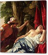 Mars And The Vestal Virgin Canvas Print