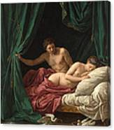 Mars And Venus. Allegory Of Peace  Canvas Print