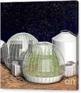 Mars Base, Artwork Canvas Print