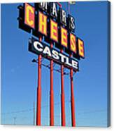 Mars Cheese Castle Canvas Print