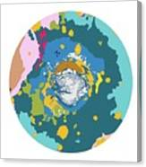 Mars North Polar Map Canvas Print