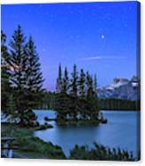 Mars Over Mt. Rundle Canvas Print