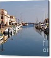 Marseillan Harbour Canvas Print