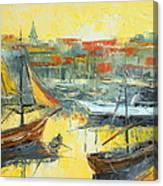 Marseille Harbour Canvas Print