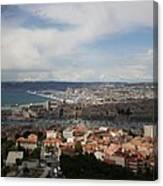 Marseille View From Cathedral Notre Dame De La Garde Canvas Print