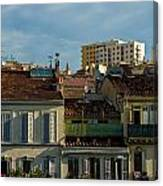 Marseilles Houses Canvas Print