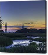 Marsh To Bridge Canvas Print