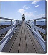 Marshall Point Lighthouse And Walkway Canvas Print