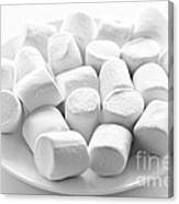 Marshmallows On Plate Canvas Print