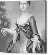 Martha Washington (1732-1801) Canvas Print