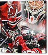 Martin Brodeur Collage Canvas Print
