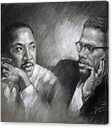 Martin Luther King Jr And Malcolm X Canvas Print