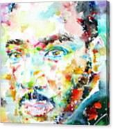 Martin Luther King Jr. - Watercolor Portrait Canvas Print