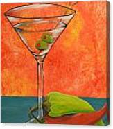 Martini And Pepper Canvas Print
