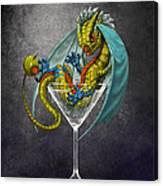 Martini Dragon Canvas Print