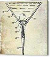 Martini Glass Patent Drawing Canvas Print