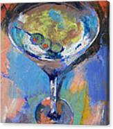 Martini Oil Painting Canvas Print