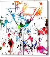 Martini Paint Splatter Canvas Print