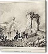 Martorell. Puente Del Diablo Or Devils Canvas Print