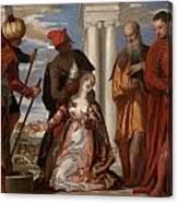 Martyrdom Of Saint Justina Canvas Print