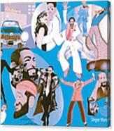 Marvin Gaye Timeline Portrait Canvas Print