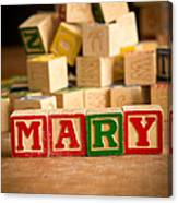 Mary - Alphabet Blocks Canvas Print