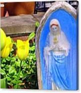 Mary In Springtime Canvas Print