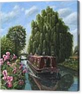 Mary Jane Chesterfield Canal Nottinghamshire Canvas Print