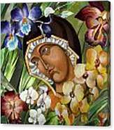 Mary Of The Orchids  Canvas Print