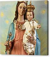 Mary Statue At Taybeh Village Canvas Print