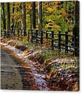 Maryland Country Roads - An Early Kiss Of Winter Canvas Print