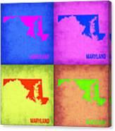 Maryland Pop Art Map 1 Canvas Print