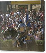 Maryland Renaissance Festival - Jousting And Sword Fighting - 1212201 Canvas Print