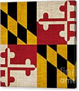 Maryland State Flag Canvas Print