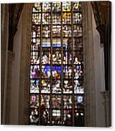 Mary's Deathbed Religious Art In Oude Kerk Canvas Print