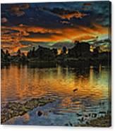 Mary's Lake Sunrise Canvas Print