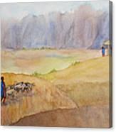 Masai Village Canvas Print