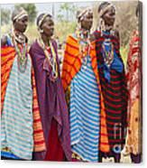 Masai Women Kenya Canvas Print