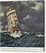 Masefield Sea Fever, 1902 Canvas Print